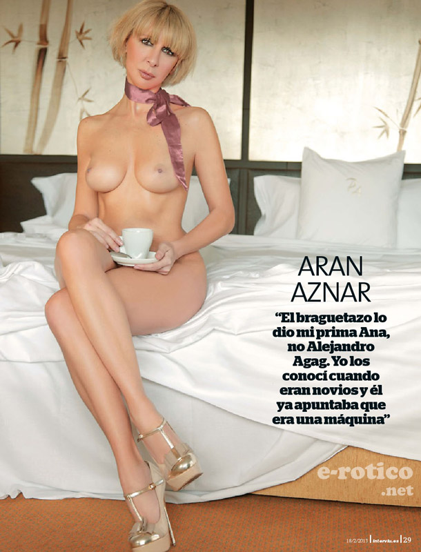 Aran Aznar desnuda en interview