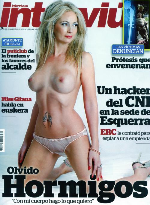 Olvido Hormigos desnuda interview